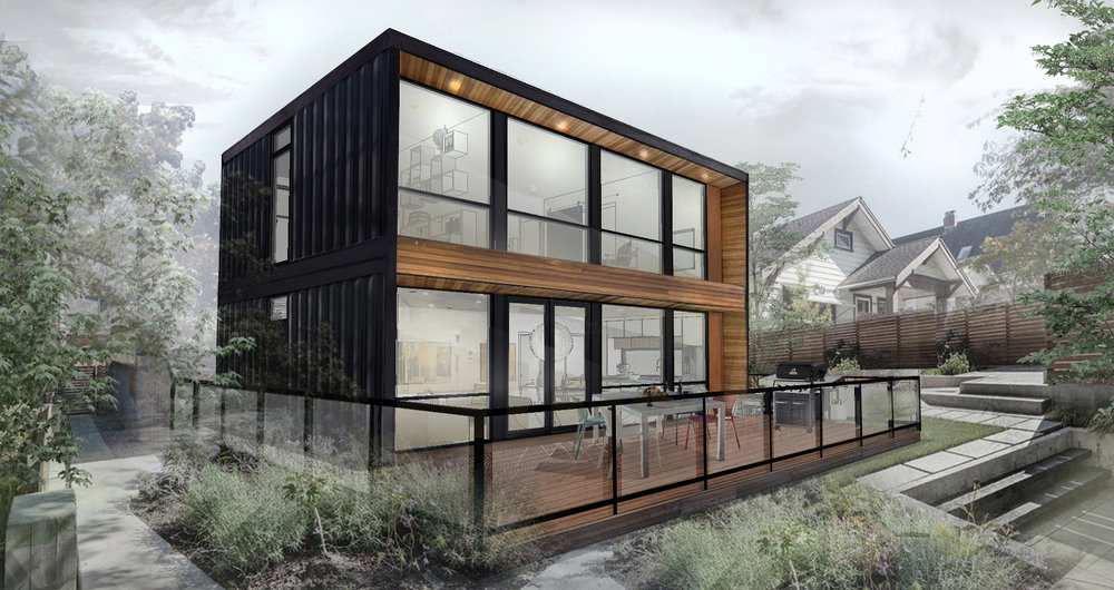 Honomobo modern shipping container homes - How much to move a 4 bedroom house ...