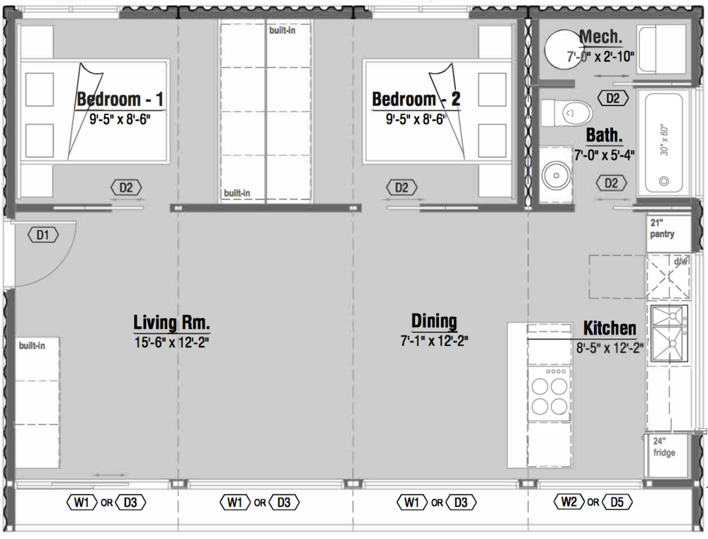 Modern Two Bedroom Shipping Container Home