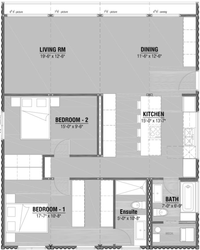 2 Bedroom 2 Bath - Upgrade