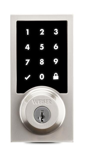 WEISER SMARTCODE - Secured keyless entry convenience controlled directly from your smartphone. Premis is compatible with iPhone, iPad, iPod touch with iOS 9 or higher, and Apple Watch running watchOS 2.0 and higher BHMA grade 2 certified deadbolt with Weiser Advanced SmartKey technically