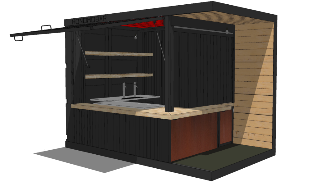 Equipment - Tell us what equipment you want inside your bar. Some options include; kegerator, backbar cooler, fridge, cocktail station and more!