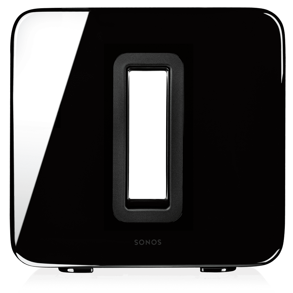 Sonos Sub - Zero cabinet rattle or buzz. Wirelessly connects to any Sonos speaker or Sonos Amp. Automatic equalization for optimal sound. Versatile design can be placed upright or flat