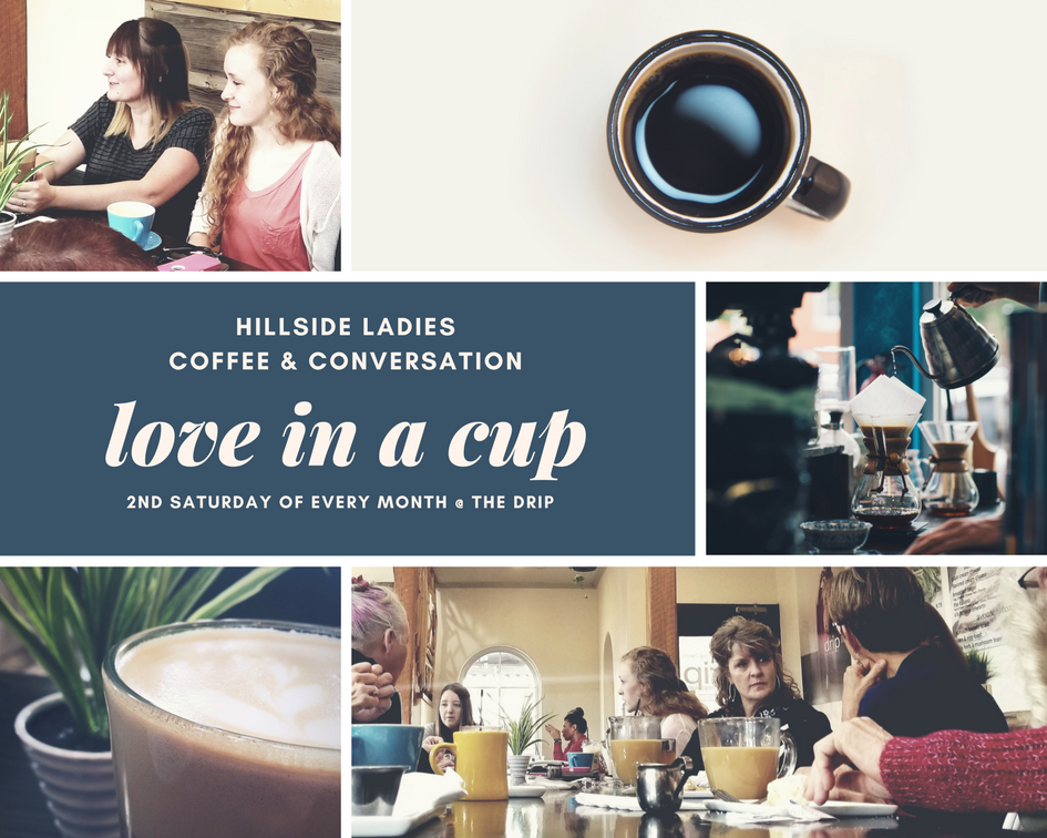 JOIN US THIS MORING  November 10, at The Drip at 9:30 for a time of fellowship and a really good cup of coffee!