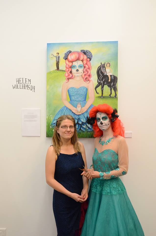 Helen Williamson with Beverly Barton modelling The Night Garden by Helen Williamson