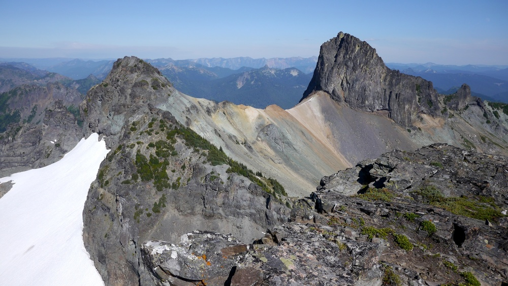 Cowlitz Chimneys from Banshee Peak (7400')