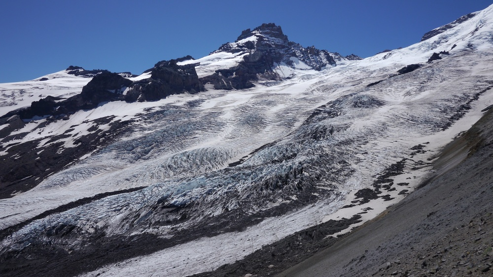 the world of ice and rock, Emmons glacier and Little Tahoma