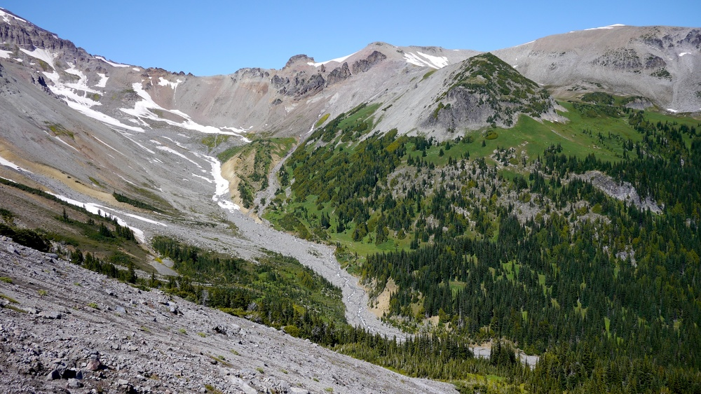 Glacier Basin below