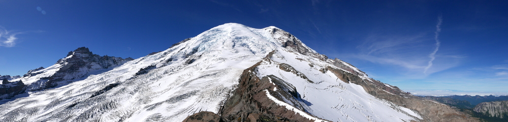 Little Tahoma, Mt Rainier, Steamboat Prow and the Inter Glacier from Mt. Ruth (8695')