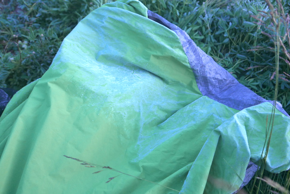 frost covered Borah Gear Snowyside eVent bivy