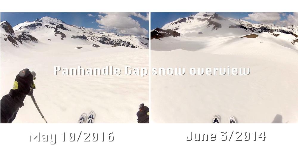skiing from just below Panhandle Gap