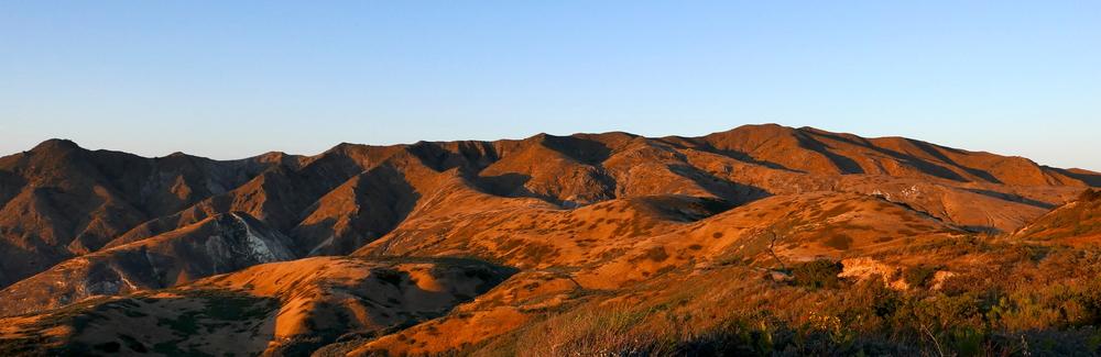 waning light on Montanon Ridge, Santa Cruz Island