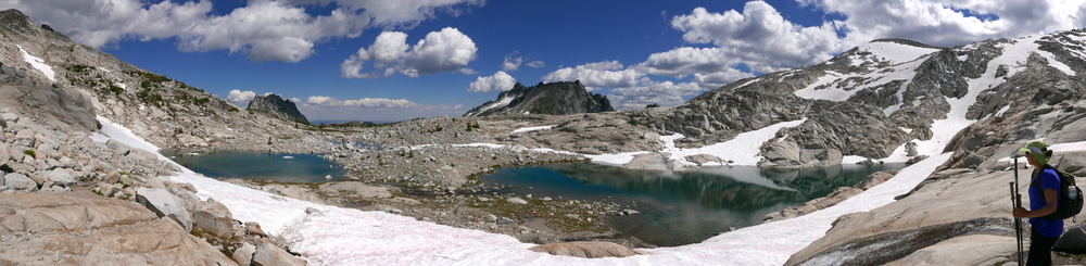 Upper basin in the Enchantments after transiting Aasgard pass