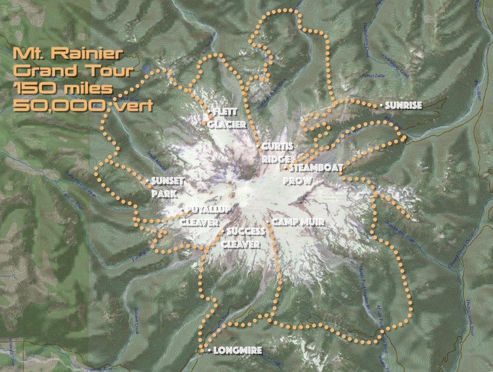 Overview of the Grand Tour, Mt. Rainier