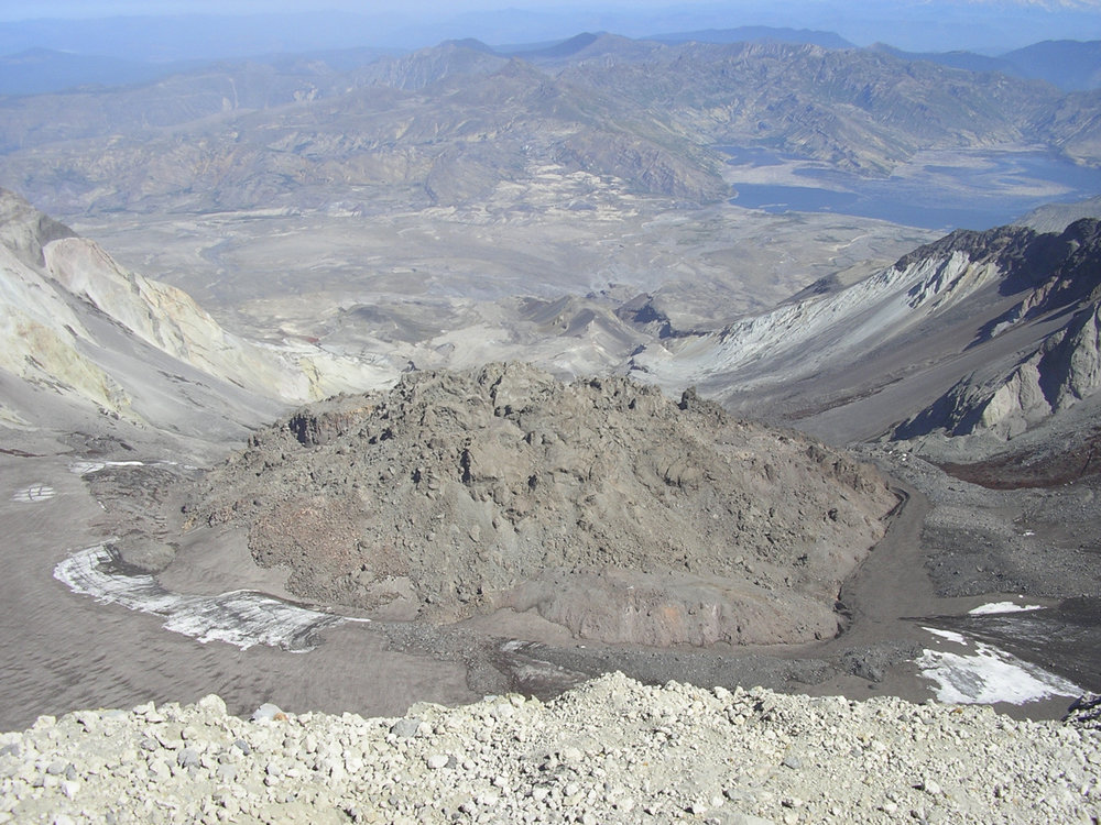 Mt. St. Helens dome in 2004