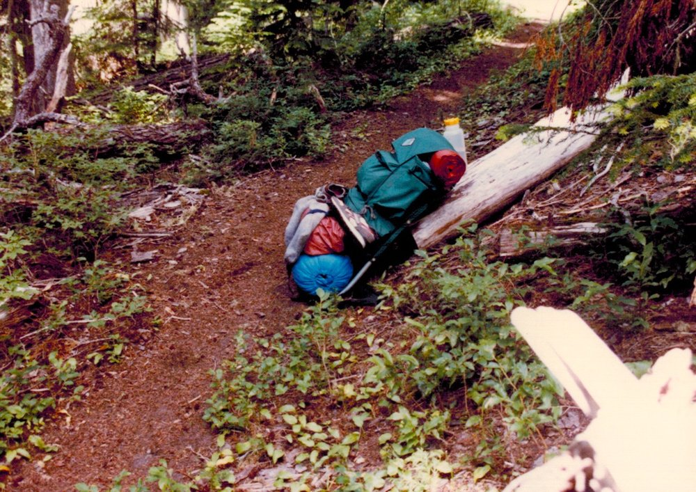 50 lb pack on the Wonderland, 1987