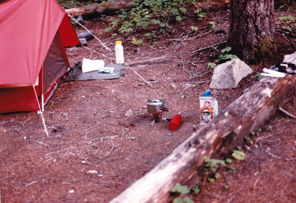 Vintage pup tent even in 1987