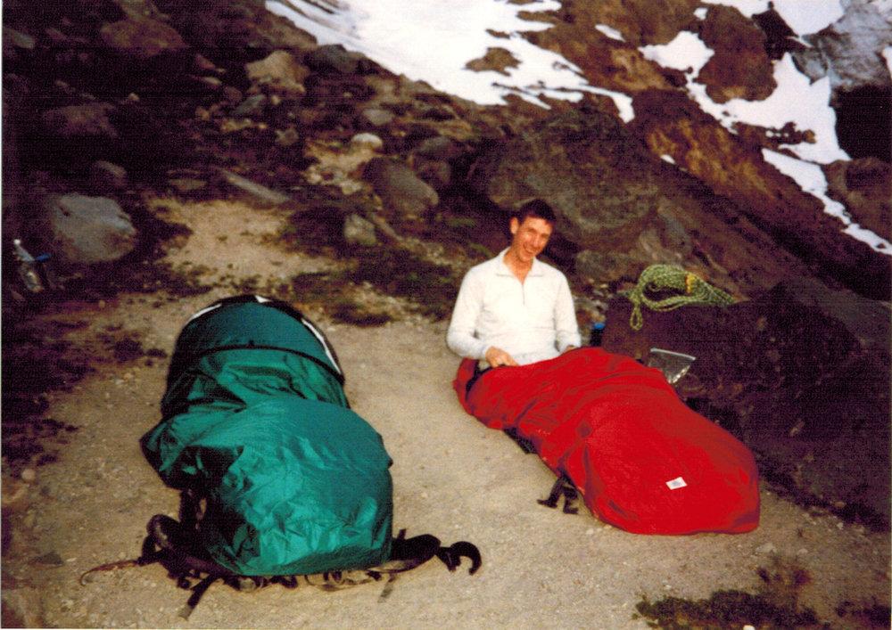 Bivy, 1994, Glacier Peak Kennedy Glacier