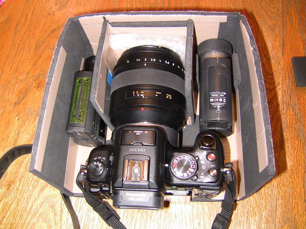 Cameras inside case/internal partitions