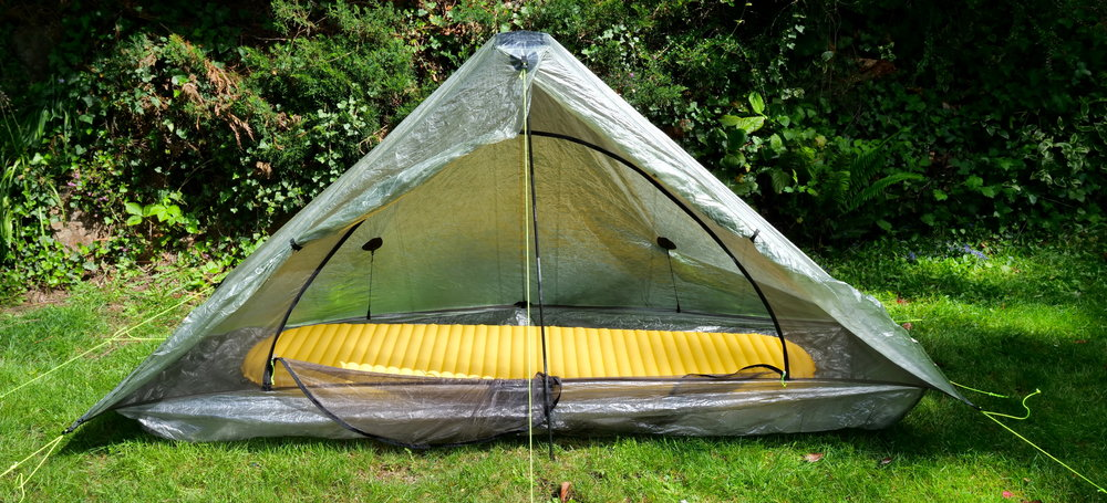 ZPacks Plexamid single pole solo tent with full length XLite pad
