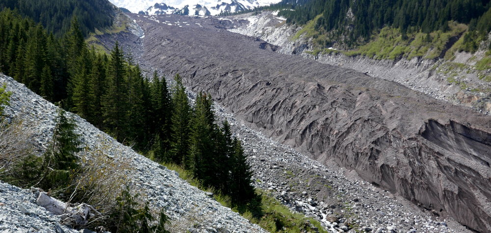 The lower Carbon Glacier