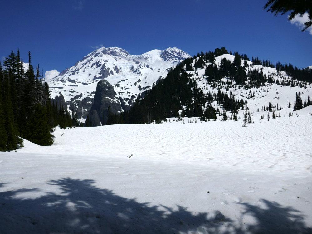 Snowbound Aurora Lake, Klapatche Park camp (5/24/18)