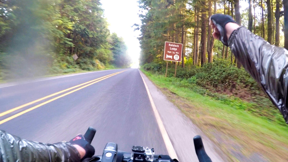 Nearing the end of a 118 mile day on the Olympic Peninsula orbit.