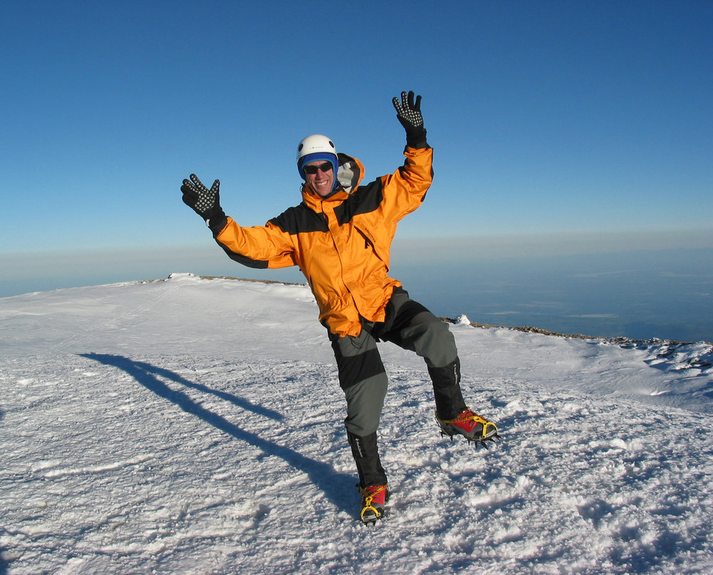 The original and first Willis Wall Pose: summit of Mt. Rainier, 2000