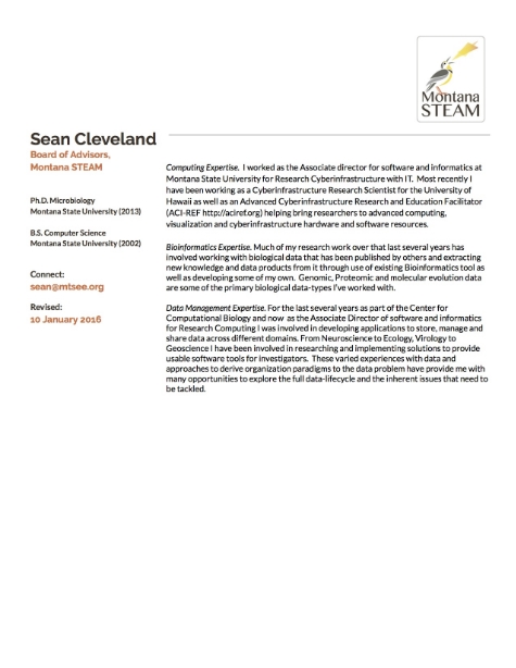 Sean Cleveland Biography