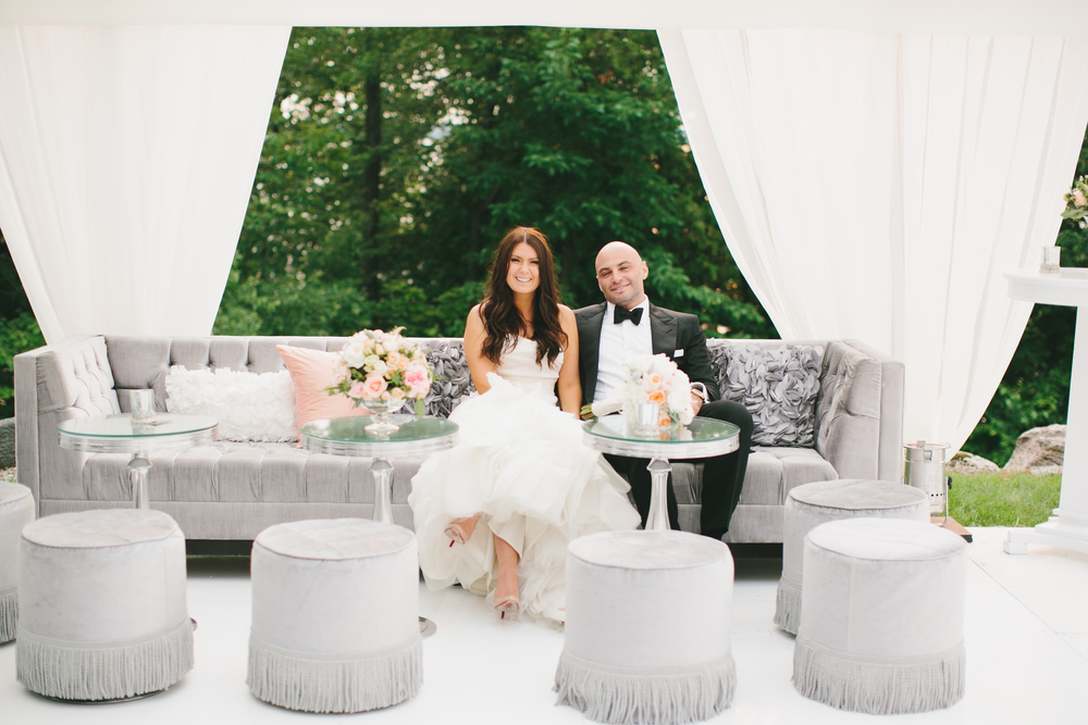 Tent Lounge Area | Wedding Planning & Design by Cynthia Martyn Fine Events |  | Fine Art Wedding Planning & Design