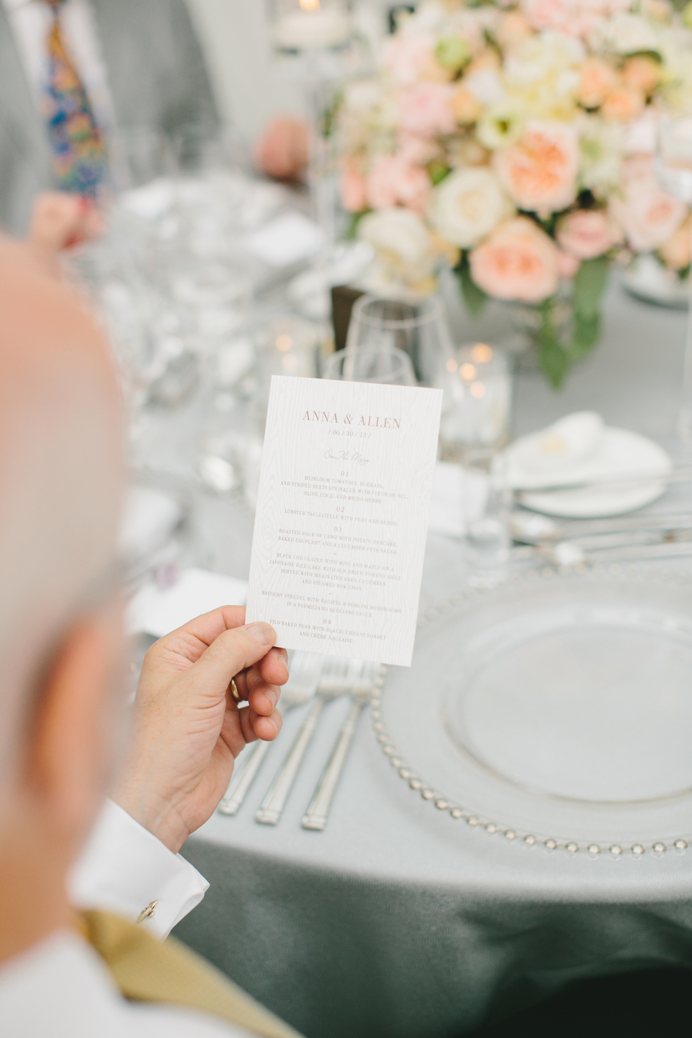 Menu Card | Wedding Planning & Design by Cynthia Martyn Fine Events |  | Fine Art Wedding Planning & Design