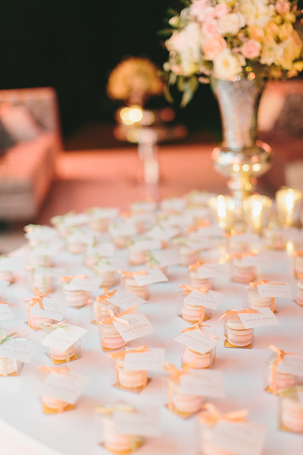 Macarons Favor Boxes | Wedding Planning & Design by Cynthia Martyn Fine Events |  | Fine Art Wedding Planning & Design
