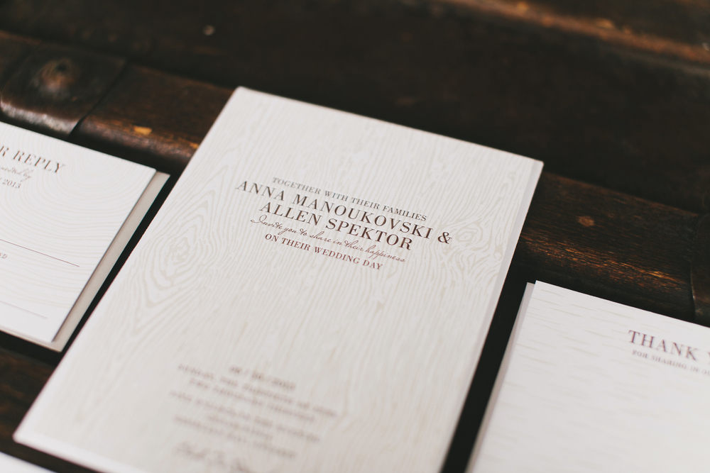 Rustic Luxe Letterpress Invitation | Wedding Planning & Design by Cynthia Martyn Fine Events |  | Fine Art Wedding Planning & DesignSuite