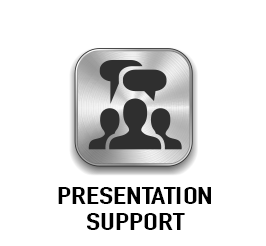 Click button for more information on our presentation support services