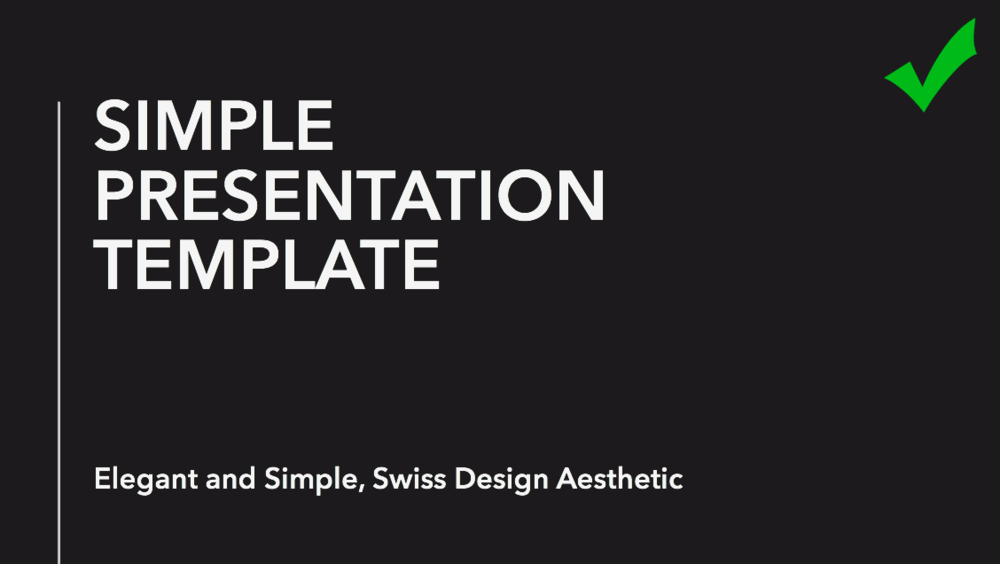 Simple Swiss Style Template Made From Scratch With A Background Line And Text
