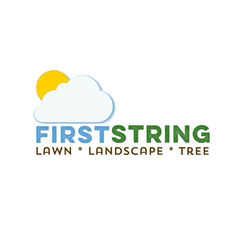 First String Lawn Landscape and tree logo