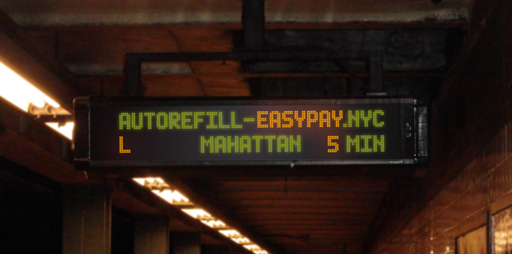 Displaying announcements on the countdown clock, with the shortened URL.