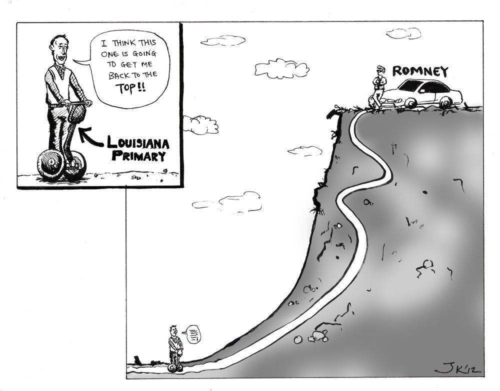 Santorum on a Segway