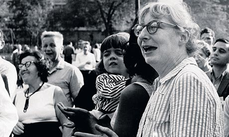 Jane Jacobs in Washington Square Park, NY, 1963. (Photo credit:   Fred W McDarrah/Getty Images)