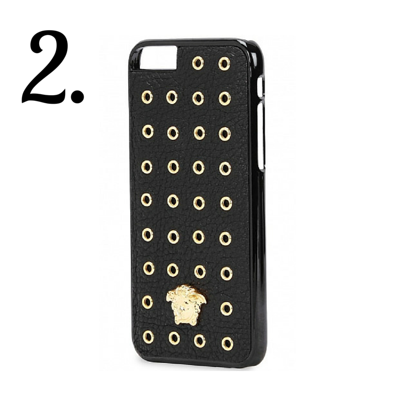 Versace: Eyelet embellished iPhone 6 case
