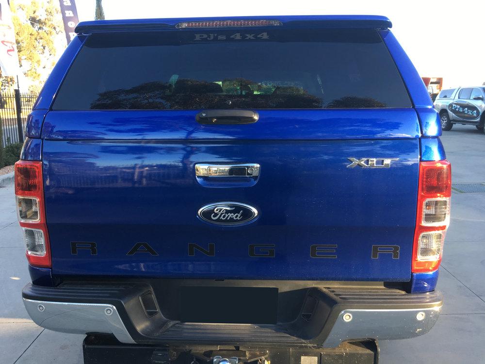 Aurora Blue Ford Ranger