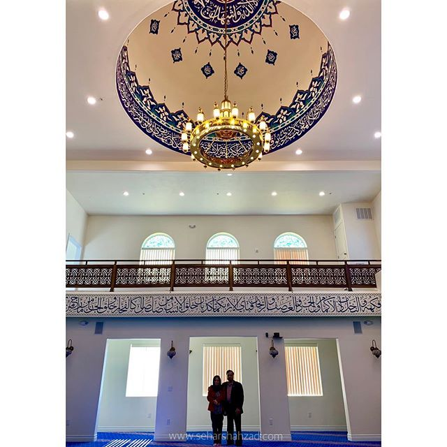 I'm getting ready to begin my next mosque project in the Bay Area this month, and can't wait to get started!  Last week, my parents visited us from Toronto and I got to show them this mosque I recently worked on. It was a special moment for them, but especially for me because this space didn't quite feel complete until they got to step inside it. 💙