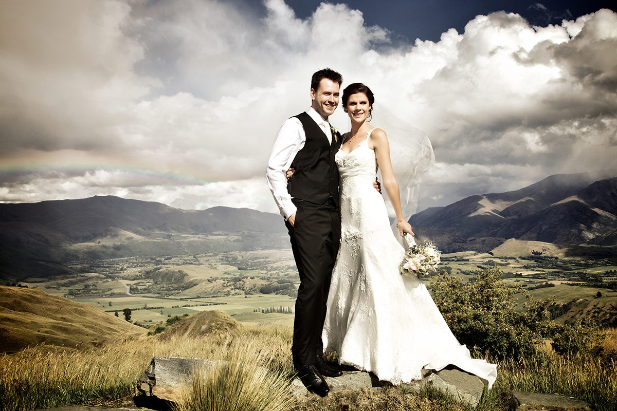 Queenstown rainy wedding