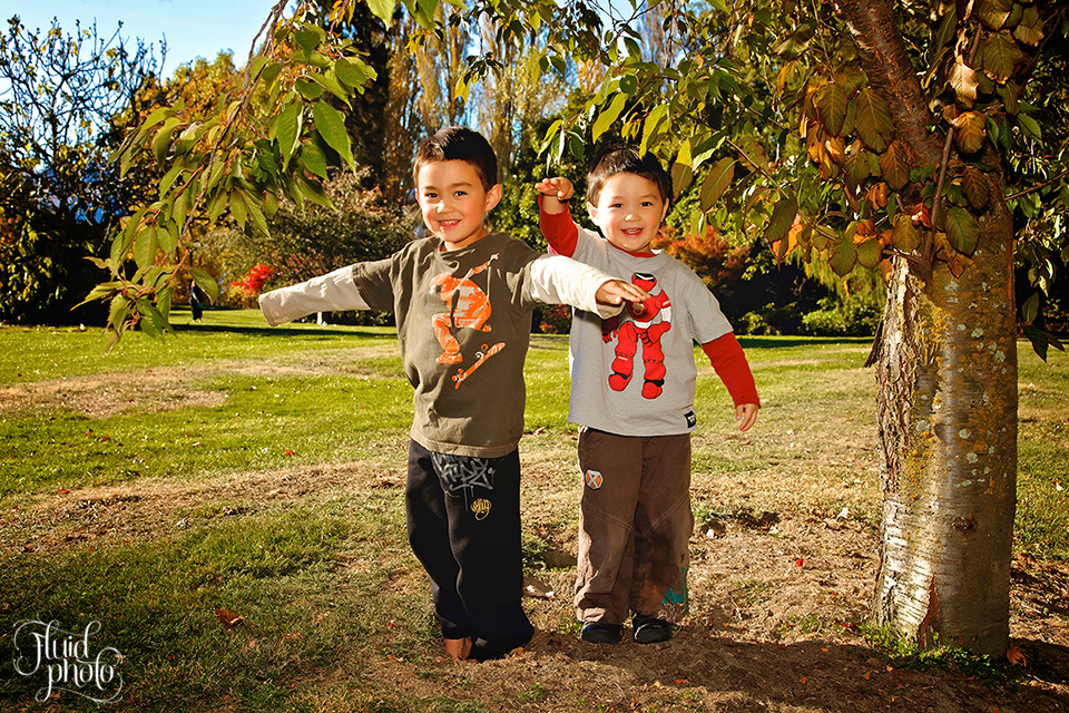 autumn family portrait wanaka