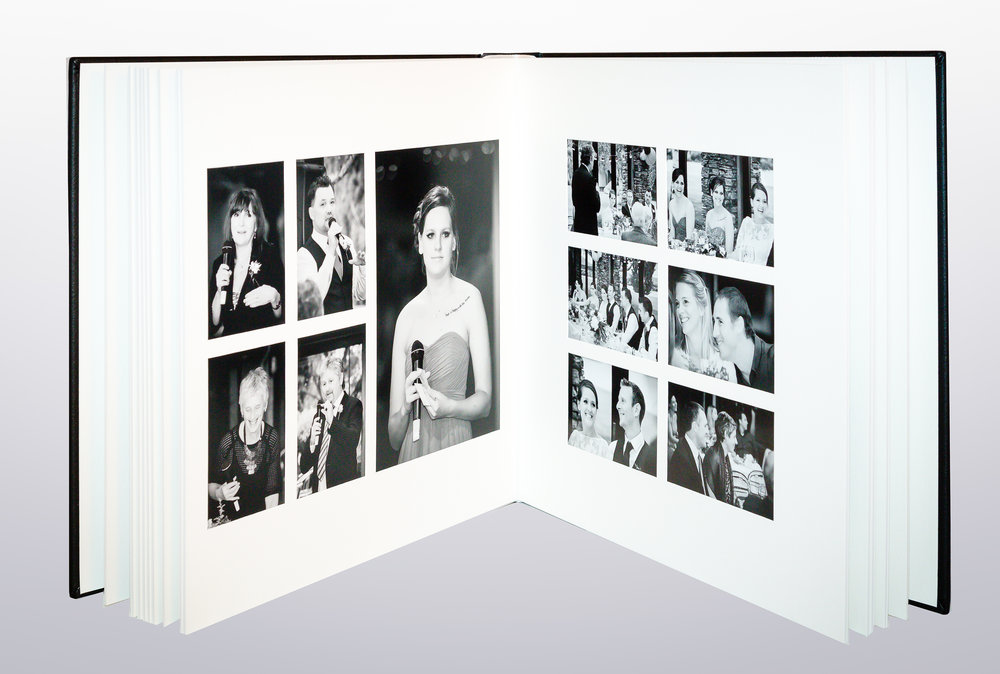 Overlay matted album spread