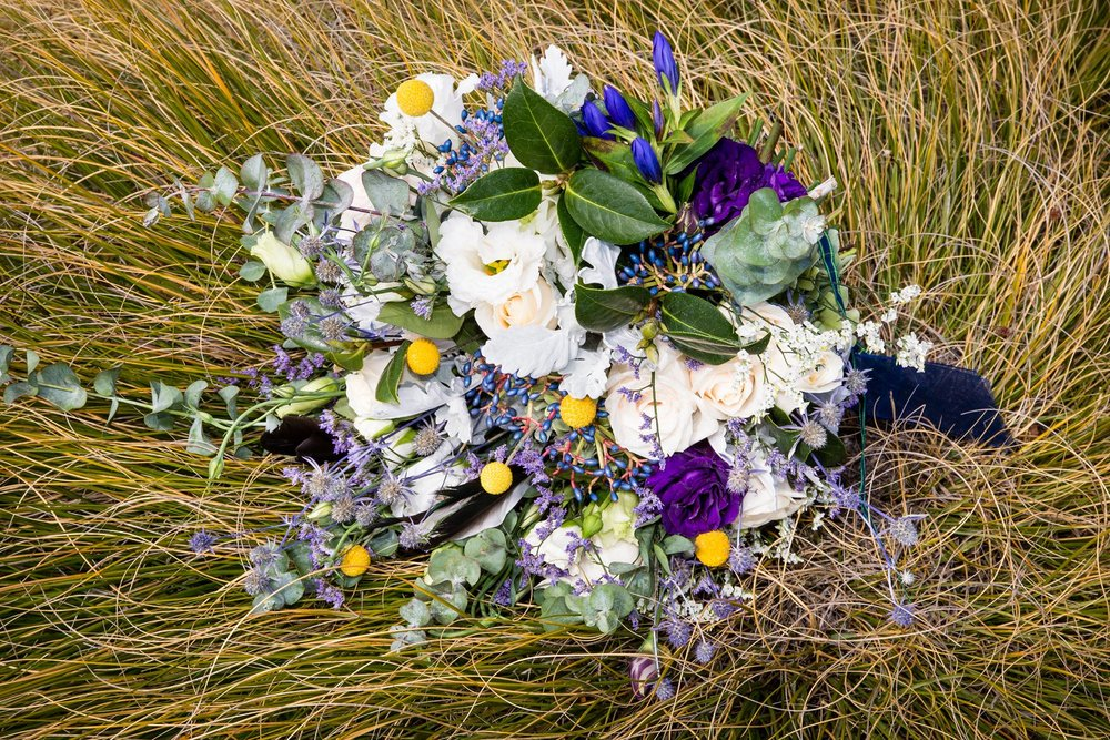 Elopement Bouquet by Crimson Wedding Flowers in Wanaka New Zealand