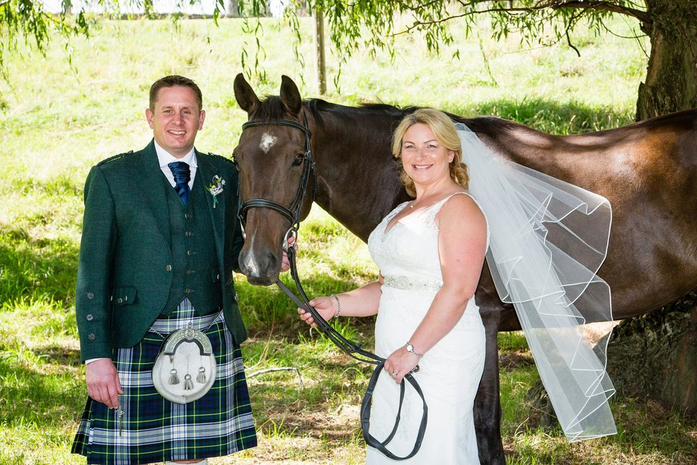 Bride Groom with horse