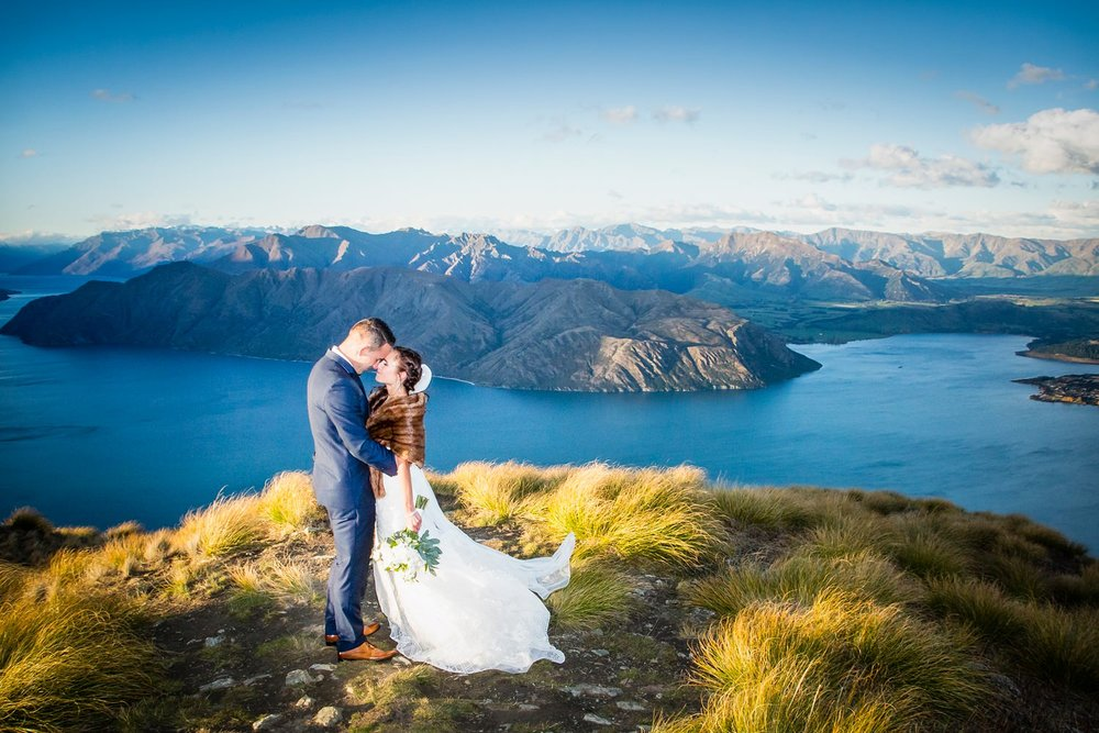 Helicopter wedding photography in Wanaka. | #sayidoinwanaka