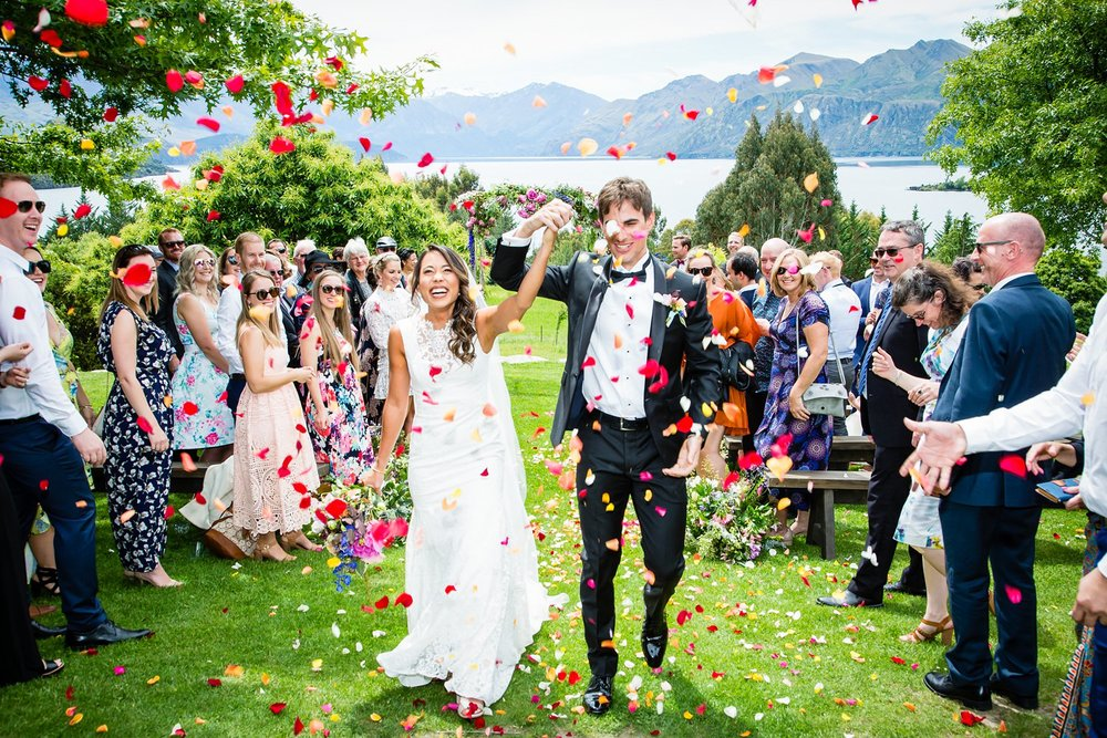Wedding cofetti in Wanaka