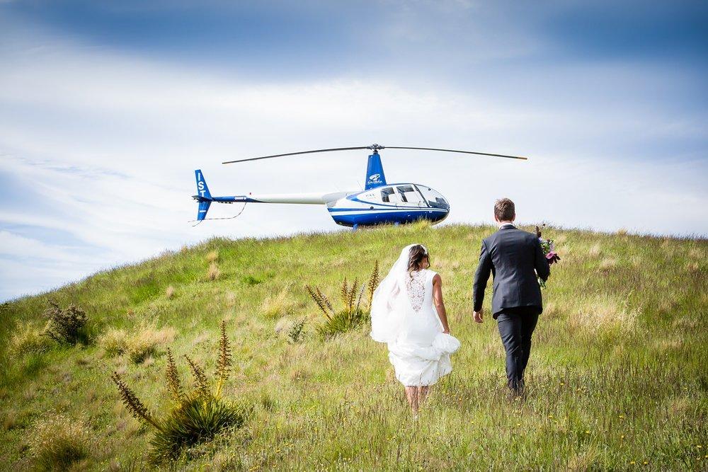 Wanaka heli wedding