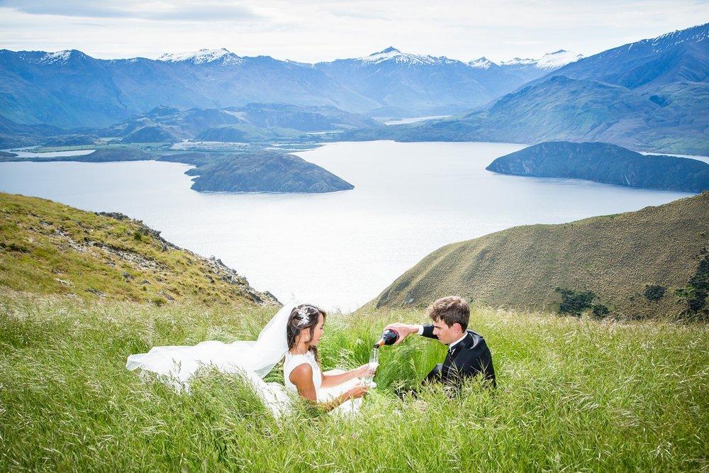 Wanaka mountain wedding